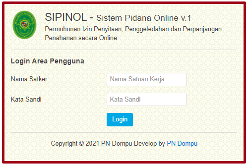SIPINOL (Sistem Pidana Online)